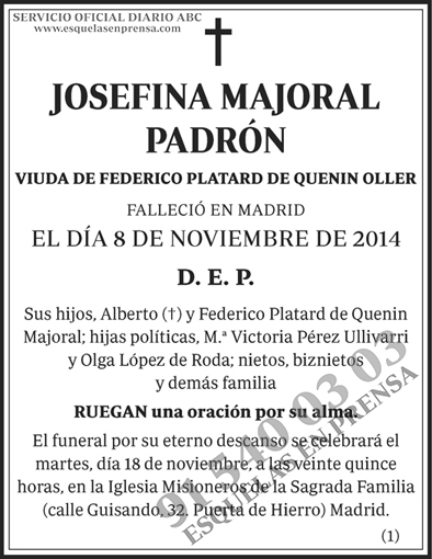 Josefina Majoral Padrón